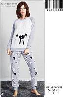 Пушистая пижама женская с брюками Овечка Vienetta 3388