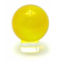 Шар желтый хрустальный на подставке