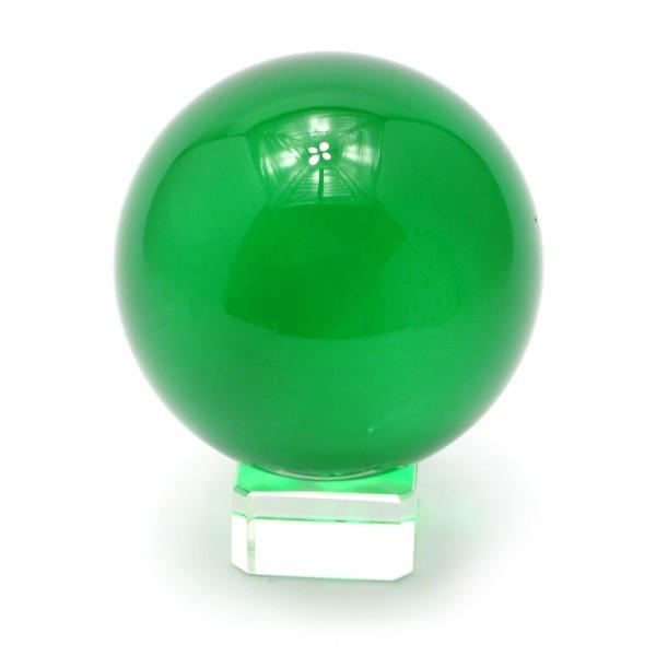 Шар зеленый на подставке хрустальный