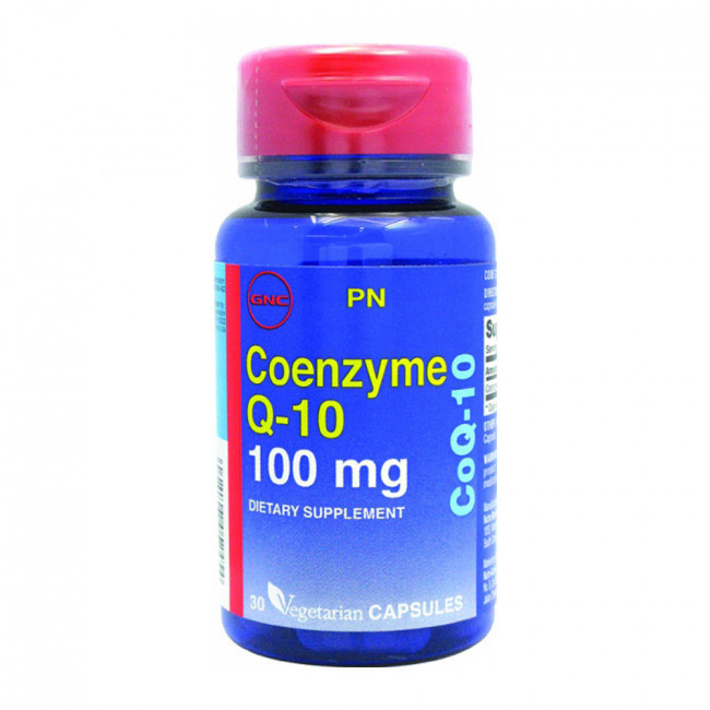 GNC Coenzyme Q-10 100 mg 30 veg caps, Коэнзим 100 мг 30 капсул