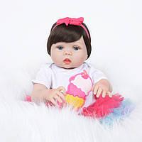 Кукла реборн 57 см полностью виниловая девочка Эльза