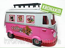 Игровой набор Лол автобус игровая площадка  / Lol camper car / Автобус с куклами lol аналог, фото 3