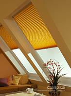 Тканевые ролеты на мансардное окно в крыше velux и roto