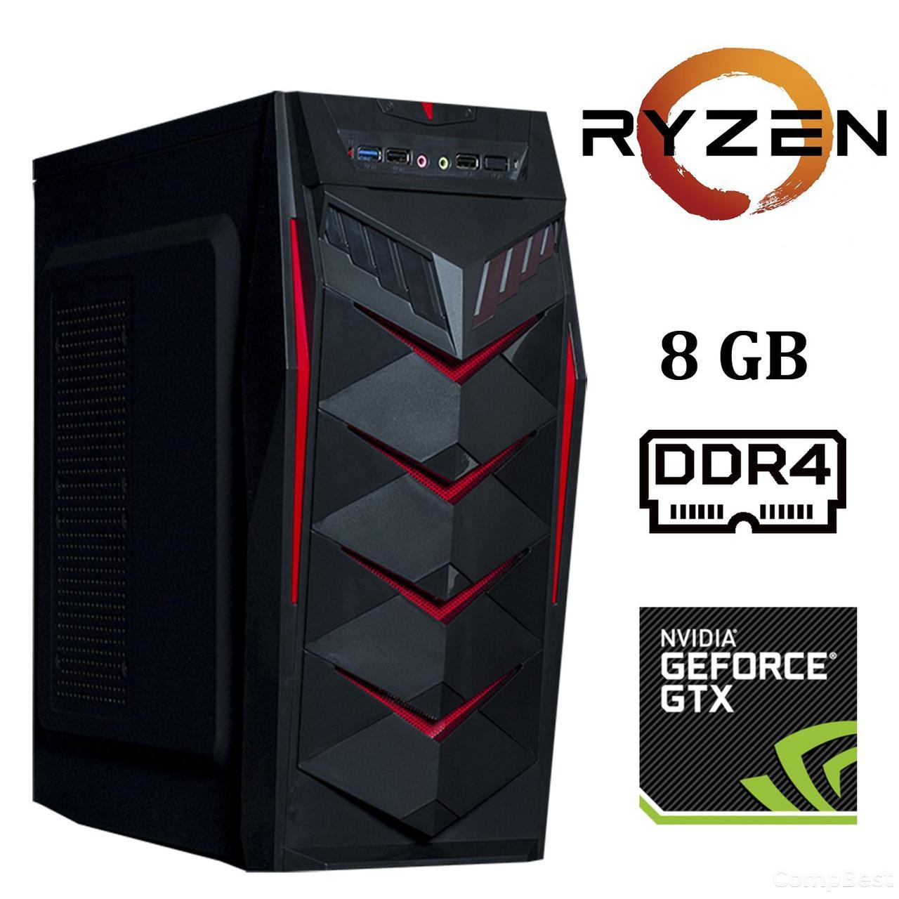 Frontier JUMBO MT / AMD Ryzen™ 3 1200 (4 ядра по 3.1 - 3.4 GHz) / 8 GB DDR4 / 1000 GB HDD / nVidia GeForce GTX 1050 Ti (4 GB GDDR5 128 bit)