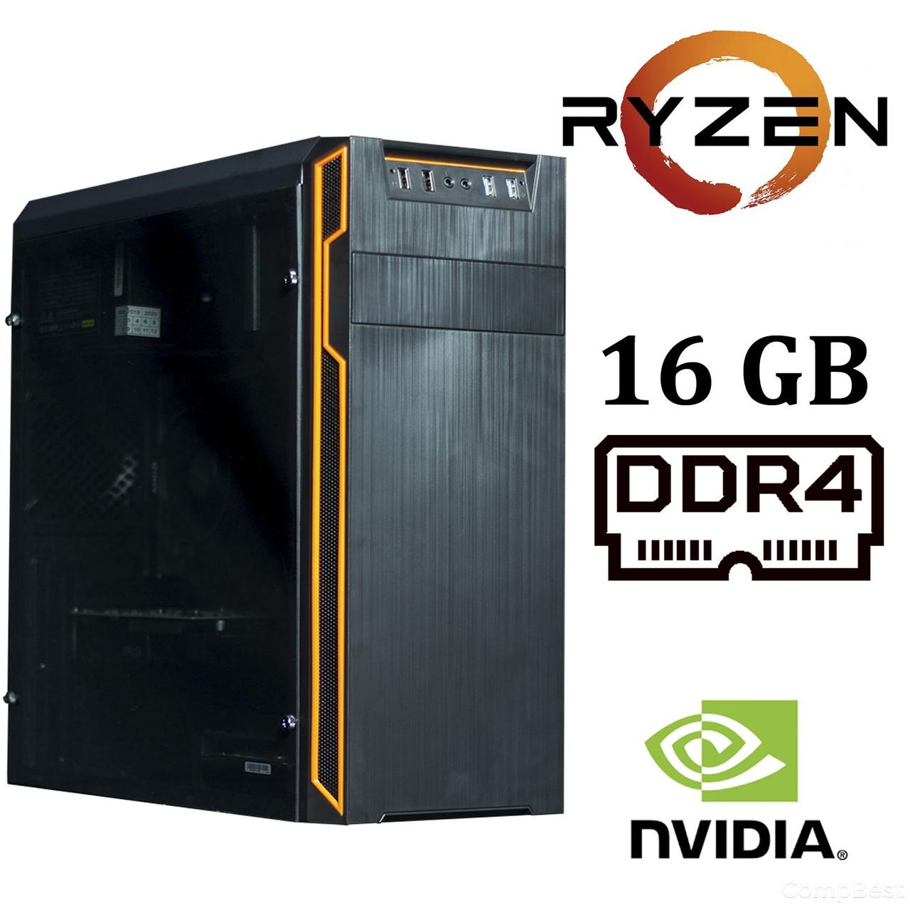 Frontier HAN SOLO orange MT / AMD Ryzen™ 7 1700 (8 (16) ядер по 3.0 - 3.7 GHz) / 16 GB DDR4 / 120GB SSD+1000 GB HDD / GeForce GTX 1060 (6 GB GDDR5 192