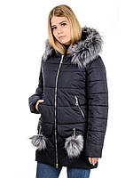 Женская зимная куртка IRVIC N15171 48 Темносиний, КОД: 260957
