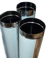 Труба 1м, нержавейка 0,5 мм,диаметр 230 мм. дымоход димохід
