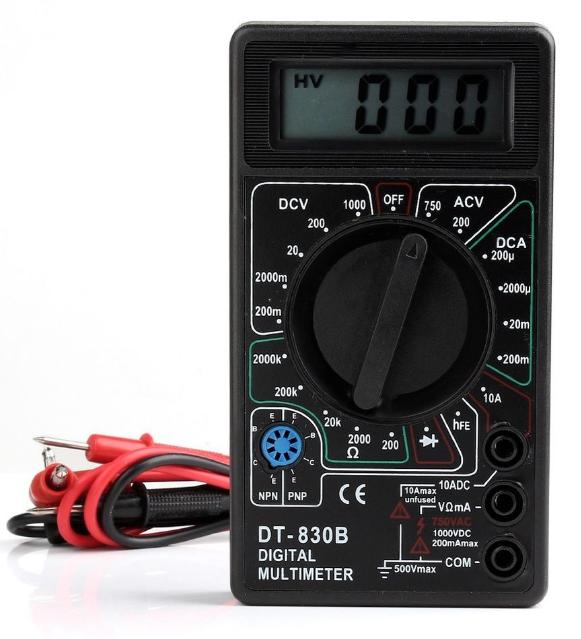 Мультиметр (вольт, ампер, омметр) DT 830 B PR1