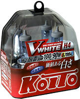 Автолампы Koito Vwhite Н4 / 3700K / комплект 2шт.