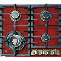 Варильна поверхня газова Kaiser KCG6335RotEmTurbo - Шx60см./скло/WOK/чавунні решітки/червоний