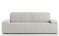 Чехол на диван 3-х местный натяжной Ванеса Беж светлый, фото 2