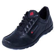 Комфортные повседневные мужские кожаные кроссовки Columbia черные осень  весна 1892 e3510623cb6