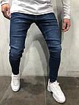 😝 Джинсы - Мужские джинсы темно-голубые, фото 2