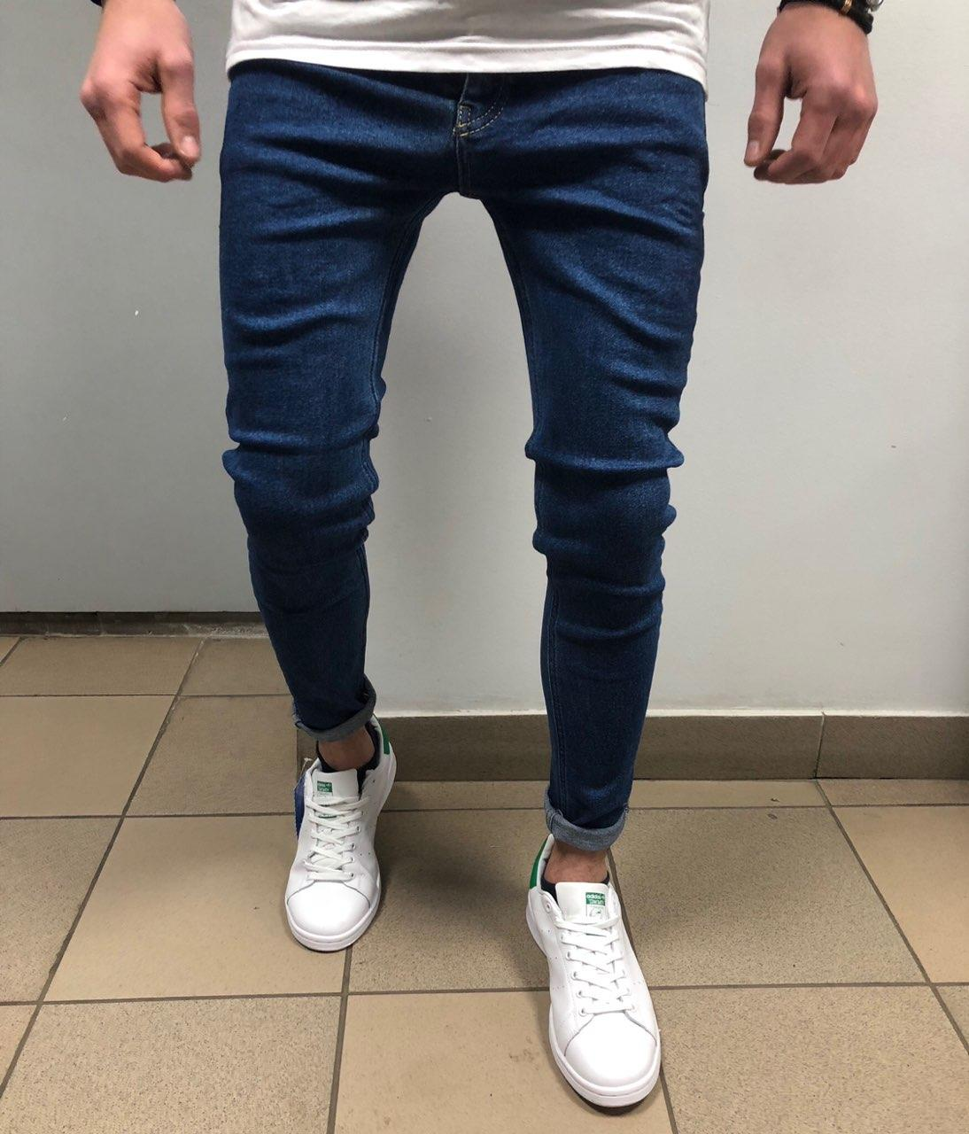 😝 Синие мужские джинсы В98456