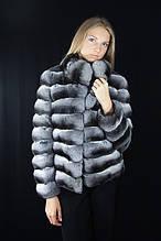 Шуба Кожушок з натуральної шиншили Natural chinchilla fur coats jackets