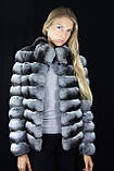 Шуба Полушубок из натуральной шиншиллы Natural chinchilla fur coats jackets, фото 2