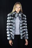 Шуба Полушубок из натуральной шиншиллы Natural chinchilla fur coats jackets, фото 4