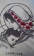 "Картина из бисера ""Мадонна с младенцем"" (ручная работа)"
