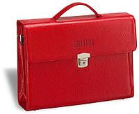 8868719798bb Женский деловой портфель из кожи BRIALDI Blanes (Бланес) relief red красный