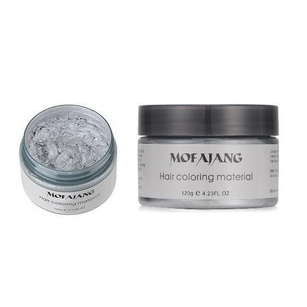 Окрашивающий воск для волос Mofajang Серебристый hubQrvm38437, КОД: 295392