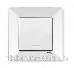 Выключатель с подсветкой белый Viko Meridian