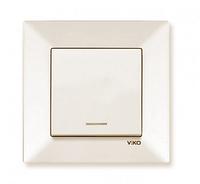 Выключатель с подсветкой крем Viko Meridian