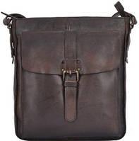 350db9d7e4f9 Мужская винтажная сумка-планшет из кожи Ashwood Leather 7994 Brown с ремнем  через плечо