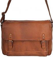 68e5a17f17e1 Cумка-почтальон винтажная мужская из кожи Ashwood Leather 1336 Tan  коричневая