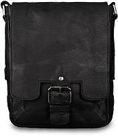 34f659151fe7 Сумка-планшет через плечо мужская кожаная Ashwood Leather 8341 Black черная