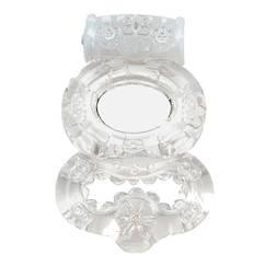 Эрекционное кольцо с вибрацией Topco Sales Climax Gems Прозрачное, КОД: 280334