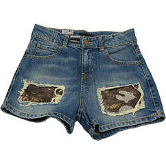 Шорты Sisley джинсовые с пайетками 150 см Синий 4S4Q593V2, КОД: 265177