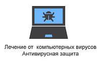 Лечение от компьютерных вирусов. Антивирусная защита. Выезд