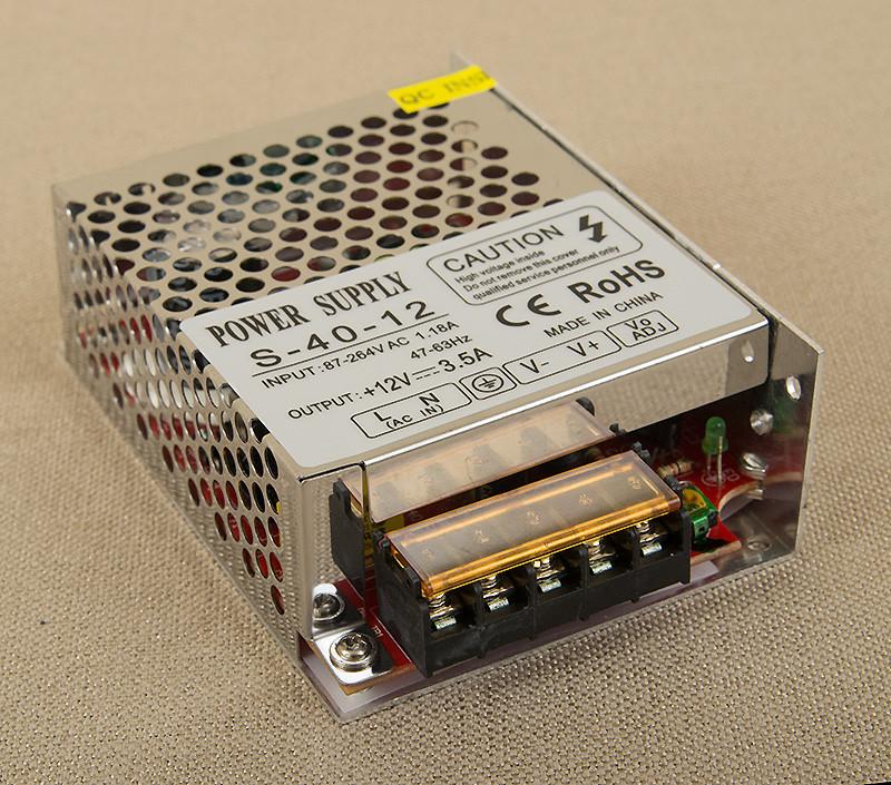 Dilux - Блок питания 40Вт,12В,3.33А, негерметичный IP20, Premium класс, гарантия 2года.