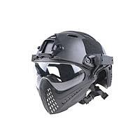 Шолом Ultimate Tactical FAST PJ Piloteer Helmet Replica Black, фото 1
