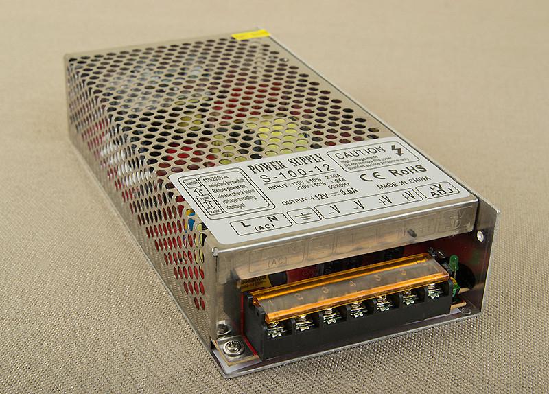 Dilux - Блок питания 100Вт, 12В, 8.33А, негерметичный IP20, Premium класс, гарантия 2года.