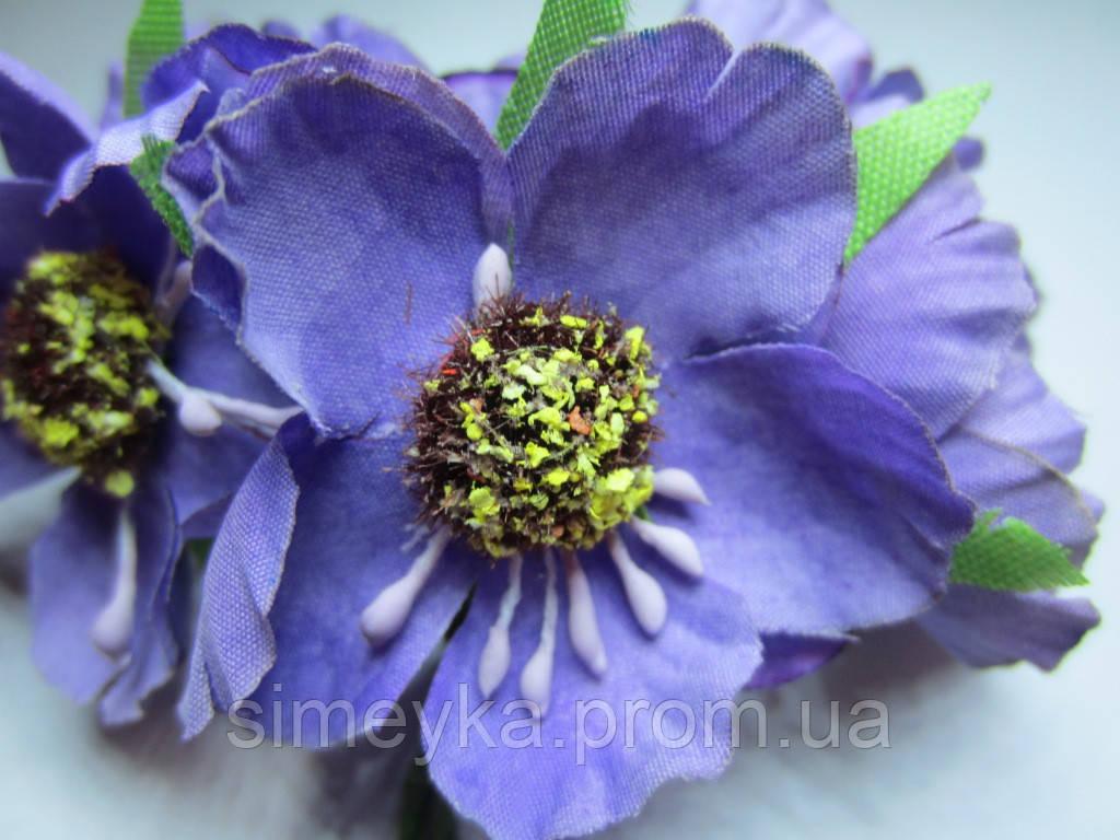 Цветок мака фиолетовый, диаметр цветка 40 мм, 1 шт.