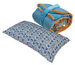 Спальный мешок+подушка bq Голубой с оранжевым 7-1001155, КОД: 108972