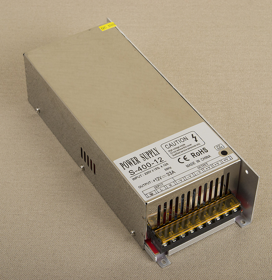 Dilux - Блок питания 400Вт, 12В, 33.33А, негерметичный IP20, Premium 2года гарантия.
