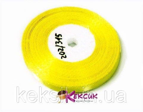 Стрічка Атласна Ніжно жовта 5 мм