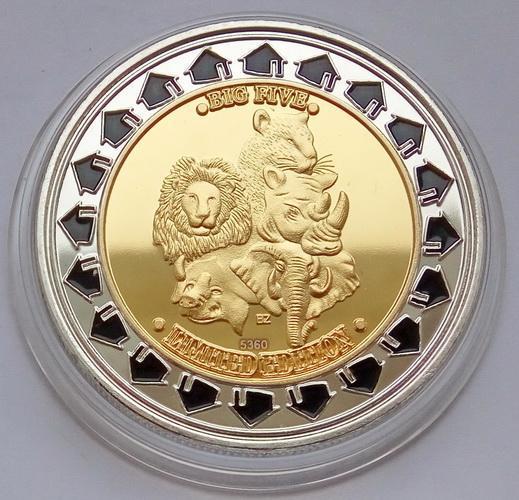 Зимбабве. 100 триллионов долларов 2008. Big Five. Limited Edition.