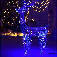 Гирлянда внешняя Adenki Олень новогодний светодиодный 124 см Голубой 5-124BLUE, КОД: 258205