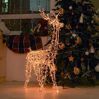 Гирлянда внешняя Adenki Олень новогодний светодиодный 70 см Желтый 5-70YELLOW, КОД: 258213