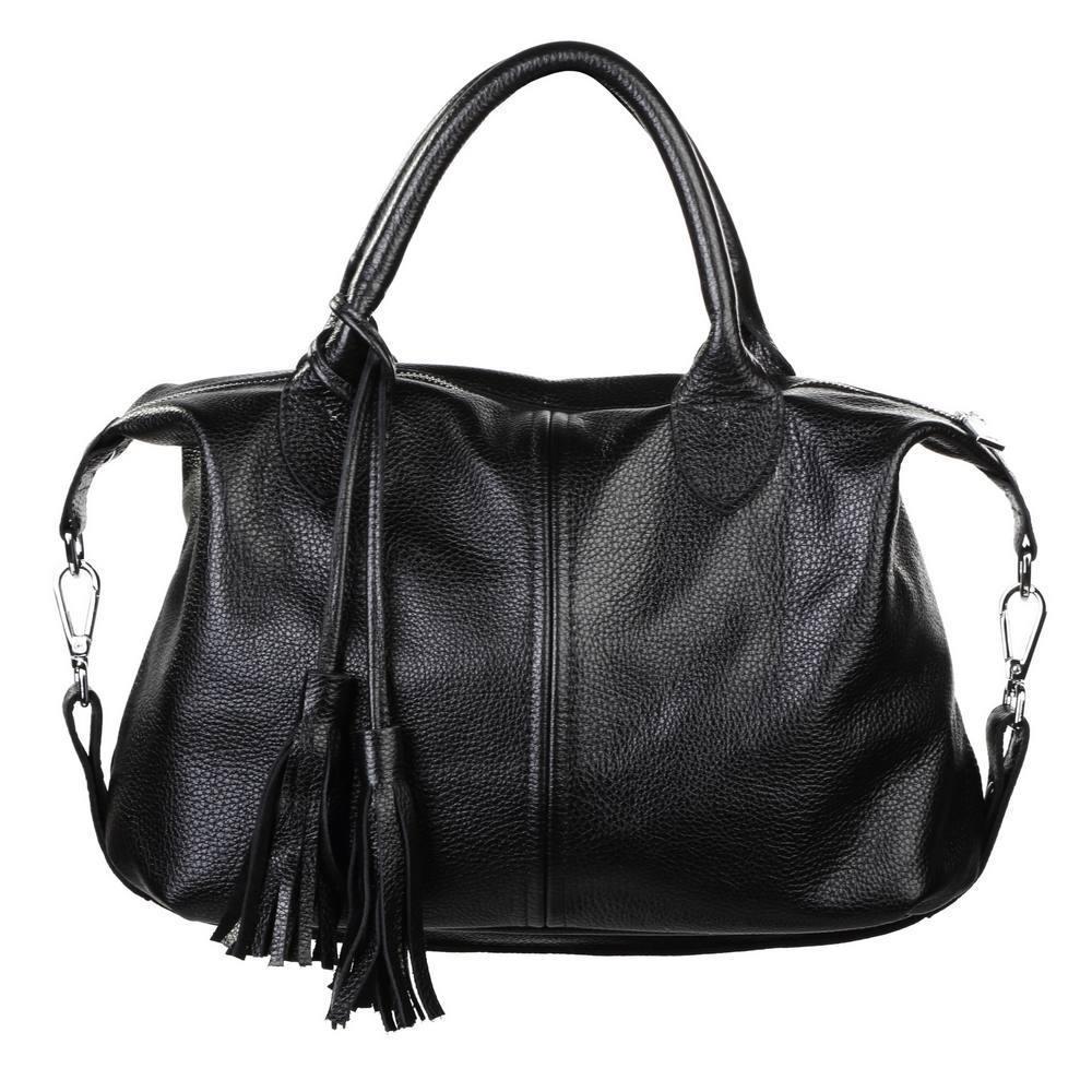 0d2292072d57 Кожаная женская сумка Барселона черная: продажа, цена в Киеве ...