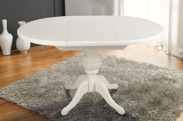 Стол обеденный Гермес ваниль (в интерьере)