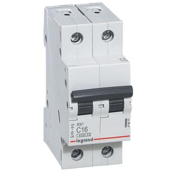"""Автоматичний вимикач Legrand RX3 2-п. 63А """"З"""""""