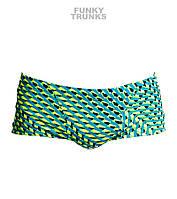 Хлоростойкие мужские плавки Funky Trunks Green Gator FT30, фото 1