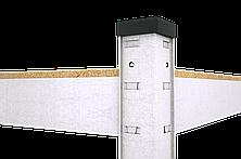 Стеллаж Бюджет (1600х800х400) оцинкованный на зацепах, 4 полки, ДСП, 175 кг/полка, фото 3