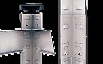 Стеллаж Бюджет (1600х800х400) оцинкованный на зацепах, 4 полки, ДСП, 175 кг/полка, фото 2
