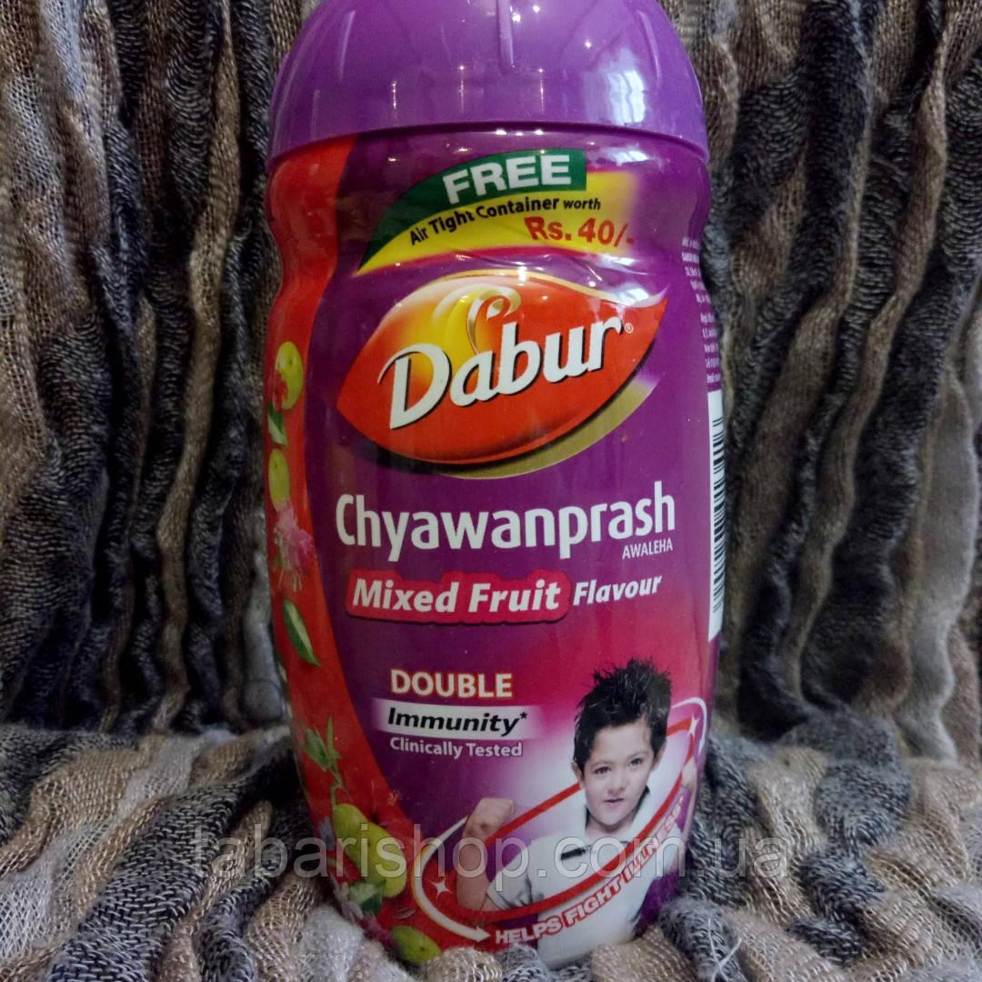Чаванпраш Дабур Фруктовый микс, Chyawanprash Dabur Awaleha Mixed Fruits, 500 гр