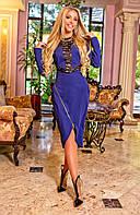 Нарядное платье с отделкой из гипюра